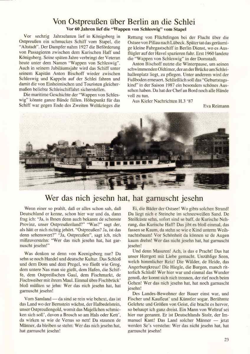 Bild: Scan eines Zeitungsberichtes