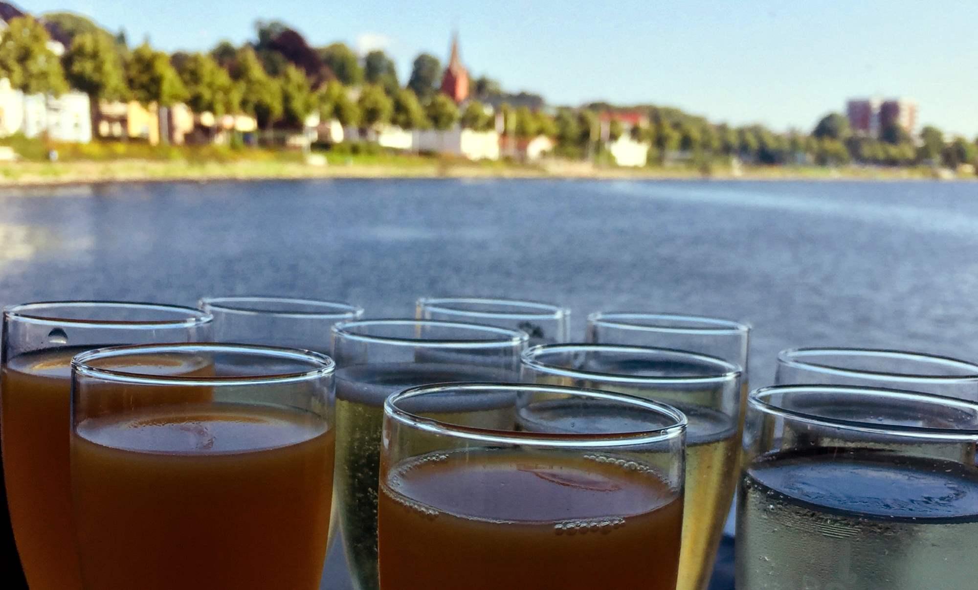 Catering an Bord der Wappen von Schleswig